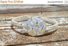 HOLIDAY SALE Opalite Bracelet / Sunstone Jewelry / Raw Crystal Jewelry / Healing Crystal Bracelet / Chakra Jewelry