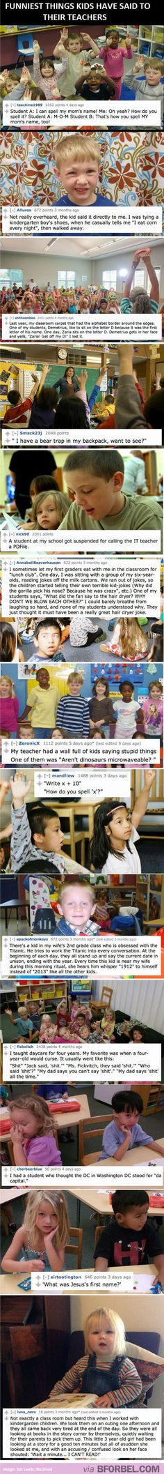 13 Hilarious Things Kids Said To Their Teachers…