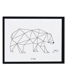 Affiche graphique enfant ours