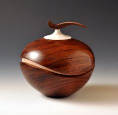 Recessed Wave Vessel with Wave Finial, 2012, by Artist John Beaver