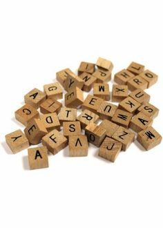 Joann S Wooden Letter Set