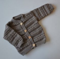 Baby Knitting Patterns Pullover Jackets – Cardigan 'Yannie' Merino Wool – a unique product by Oekolinchen …
