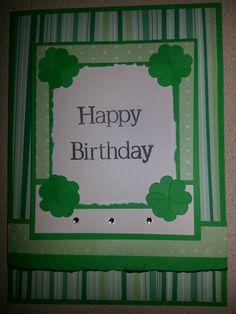 St. Patrick's Day Birthday Card  www.angelssendinghope.com