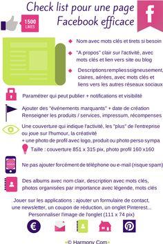 check list pour une page facebook efficace