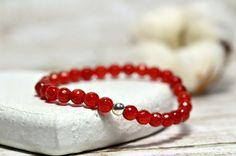 Carnelian Bracelet Red Bracelet Love Bracelet Stacking by Anmidart