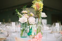 Love these painted numbers for the tables. Easy DIY and pretty results!