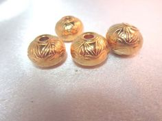 Vintage Metal Coated Lucite Beads 16mm X 12mm by simplysurina, $3.00
