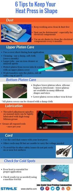 6 Tips to Keep Your #HeatPress in Shape