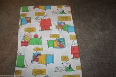Vintage Peanuts Charlie Brown Lucy Snoopy Twin Flat Sheet 1971 Color is good but has one small stain and some dirt on very top of sheet took picture of  Returns accepted if not 100% satisfied ( No hassle return policy)  *Returned in same condition you received it in.  *I pay for returned shipping if it is my fault  *If it is your fault you pay for returned Shipping    FAST SHIPPING!!!.