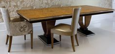 Art Deco Furniture | Inspiration Luxury Dining Art Deco Style Table and Side Chairs by RBC