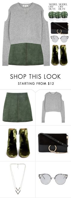 """""""Model off duty II"""" by chantellehofland ❤ liked on Polyvore featuring George J. Love, McQ by Alexander McQueen, Aquazzura, Chloé, NLY Accessories and Forever 21"""