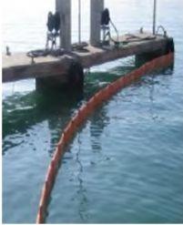 BARRERAS DE CONTENCIÓN. Barreras planas. BP500/BP750/BP1000. Para utilizar en aguas protegidas con mínimo oleaje y sin corrientes.