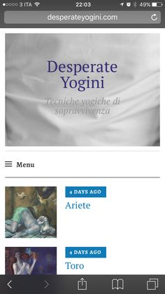 Blog desperate yogini