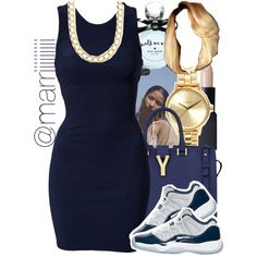 A fashion look from June 2015 featuring Oneness dresses, Yves Saint Laurent shoulder bags and Nixon watches. Browse and shop related looks.