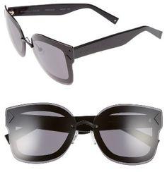 6725d731416f Women's Kendall + Kylie Priscilla 65Mm Butterfly Sunglasses - Matte Black/  Matte Red/ Black