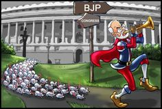 Neta, gali gali Modi gun gaane lage' A slew of political bigwigs are wearing the 'WE LOVE MODI' 'billa' proudly...