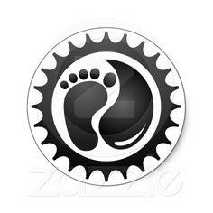 Round Tri Logo Sticker