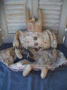 Primitive Bunny Primitive Spring Rabbit by PoppleRiverPrimitive