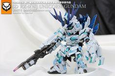 GUNDAM GUY: SD Unicorn Gundam White Banshee [Destroy Mode] - Customized Build