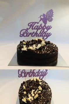 Happy Birthday Cake Topper/glitter pink cake topper happy birthday/fairy cake topper/cake toppers in the UK/double sided glitter cake topper Happy Birthday Fairy, Happy Birthday Cake Topper, Glitter Cake, Bank Holiday, Skewers, Safe Food, Party, Desserts, Pink