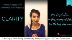 Tuesdays With Manj #13: CLARITY (from Facebook live) Cookie Videos, Spiritual Wellness, Our Body, Law Of Attraction, Self Love, Clarity, Tuesday, Spirituality, Journey
