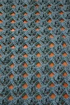 free diamond stitch crochet pattern