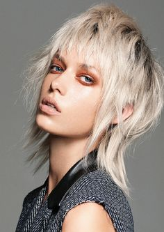 The Modern Mullet Punk Hairstyle Medium Hair Cuts, Short Hair Cuts, Medium Hair Styles, Short Hair Styles, Medium Shag Hairstyles, Funky Hairstyles, Haircut Medium, Short Punk Hair, Punk Girl Hair