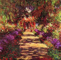 Path in Monet's Garden, Giverny, Monet
