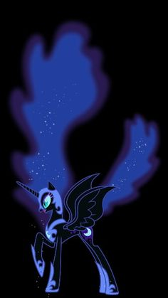 Nightmare Moon about to spread magic with her hair?