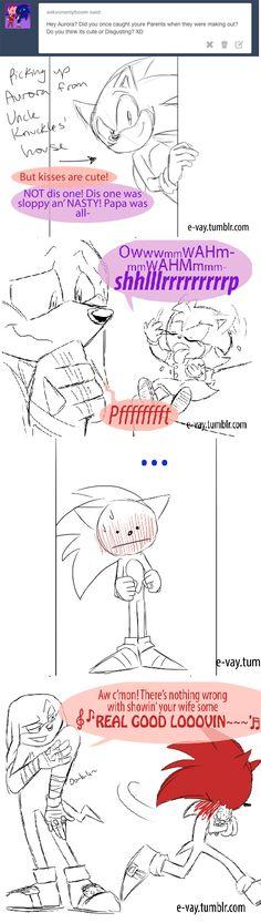 Hahahaha, ow poor sonic