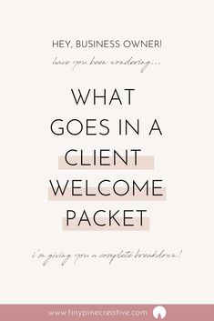 After many versions, I have finally created what I think is the perfect client welcome packet. Business Advice, Business Planning, Online Business, Business Coaching, Names For Business, Business Management, Business Education, Small Business Marketing, Event Planning