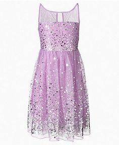 Crystal Doll Sequin Illusion Dress, Big Girls (7-16) | Illusion ...