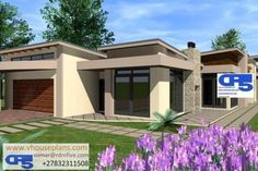 RDM5 House Plan No W1741 Open House Plans, House Layout Plans, Family House Plans, Dream House Plans, Flat Roof House Designs, Small House Design, Morden House, House Plans South Africa, 5 Bedroom House Plans