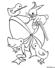 Easter coloring Make your world more colorful with free printable coloring pages from italks. Our free coloring pages for adults and kids. Easter Coloring Pictures, Easter Bunny Colouring, Easter Egg Coloring Pages, Free Coloring Sheets, Free Printable Coloring Pages, Coloring Pages For Kids, Coloring Books, Bunny Images, Bunny Painting