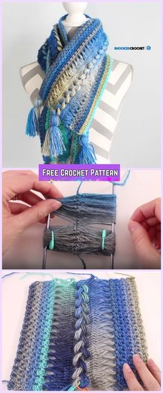Crochet Hairpin Lace Scarf Free Pattern with Video Tutorial