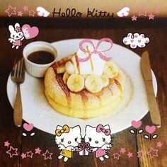 Good morning everyone! Would you like some delicious pancakes ;) ? おはようございます! おいしそうなホットケーキ♡ Photo taken by shihorisan on What If Camera http://www.wifcam.com