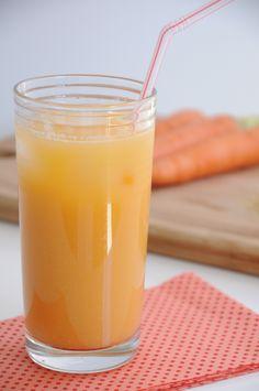 Suco de cenoura e maçã