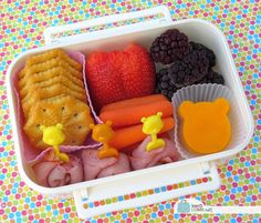 BentoLunch.net - What's for lunch at our house: Winnie the Pooh Day Snack Bento