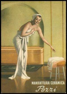 Vintage Italian Posters ~ #illustrator #Italian #vintage #posters ~ Illustration by Gino Boccasile 1952