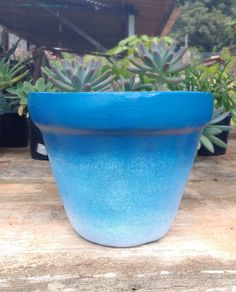Vaso Azul Degradê