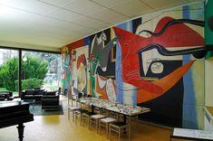 Magnificent Le Corbusier mural at the Fondation Suisse