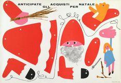 Christmas paper doll. Lora Lamm, 1958.
