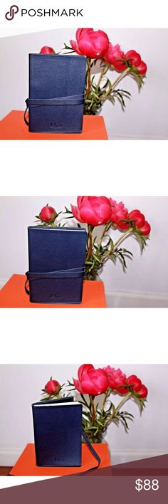 """🆕 Christian Dior Genuine Leather Cover Notebook Up for sale is a brand new Christian Dior Sauvage journal / diary / notebook. Genuineleather cover. Ruled pages.  Dimensions: Length: 4.5"""" Height: 6"""" Depth: 1""""  Sold out everywhere! 100% authentic. Made in France. Dior Accessories"""
