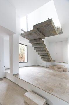 #Concrete #stairs byÁbaton Arquitectura. Pinned by www.modelina-architekci.com