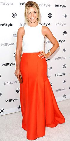 Loving the bright orange with clean white.