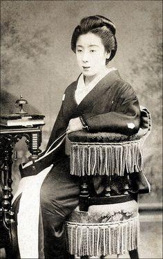 Japanese Lady--Pre 1900 CDV.