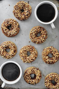 Baked Peanut Butter Chocolate Doughnuts