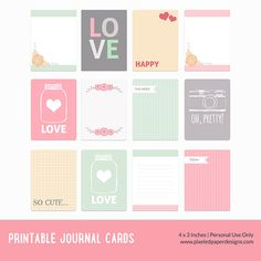 Journal Notes > use and labels. Free Printables
