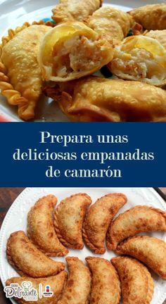 Mexican Dishes, Mexican Food Recipes, Camarones Fritos, Salvadorian Food, Latin American Food, Empanadas Recipe, Shrimp Recipes, International Recipes, Fish And Seafood