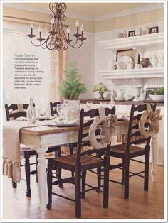 I WILL have a dining table and chairs just like this one day!!!